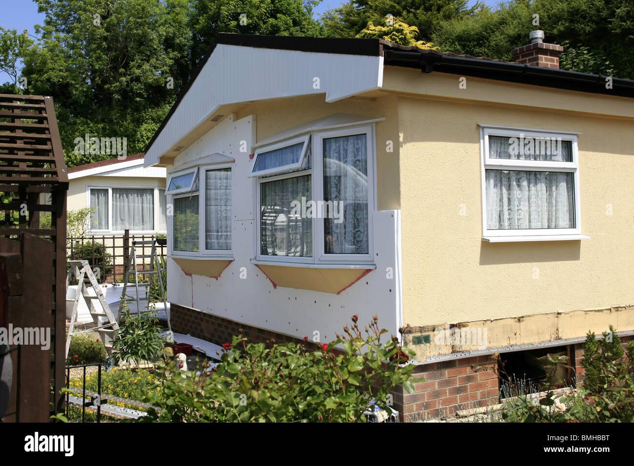 Ein Haus Mit Einem Neuen Polystyrol Dammung Pack Auf Den Aussenwanden