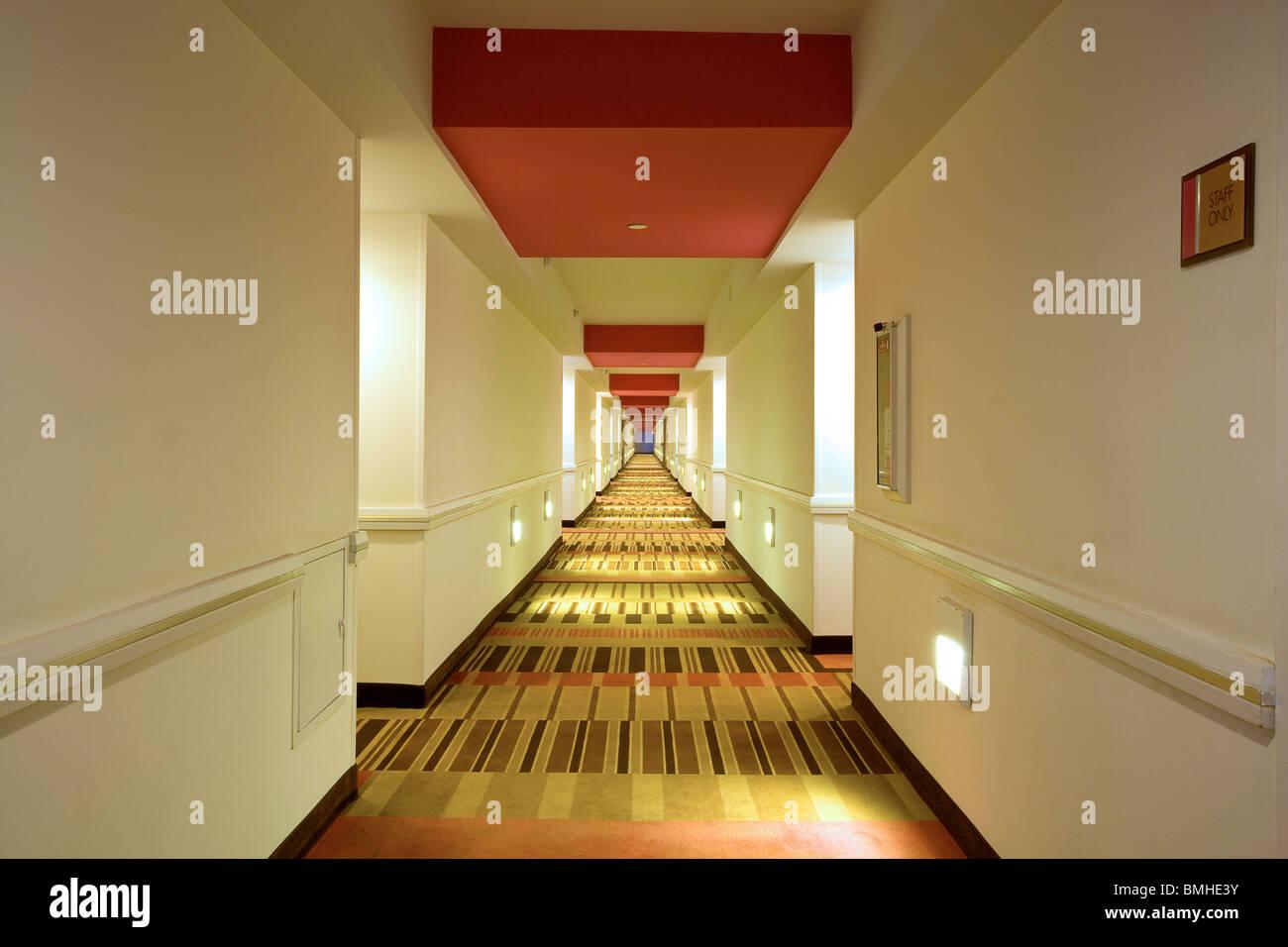 Der Flur im Flamingo Hotel Las Vegas Stockbild