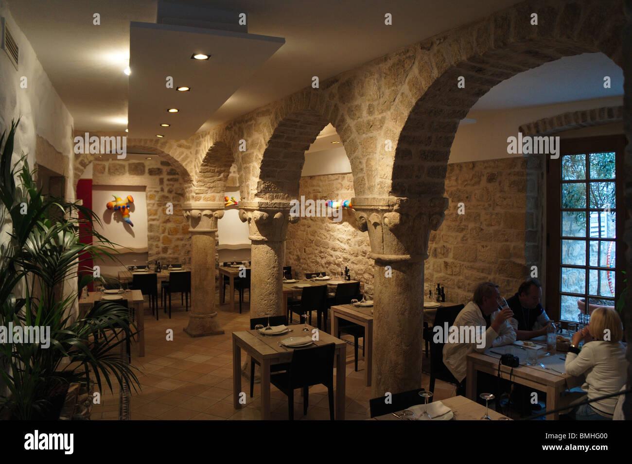 Kroatien, Split, dalmatinischen Riviera - Insel Hvar - Restaurant ...