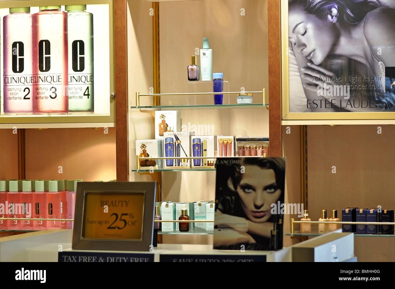 Kosmetik-Anzeige Stockbild