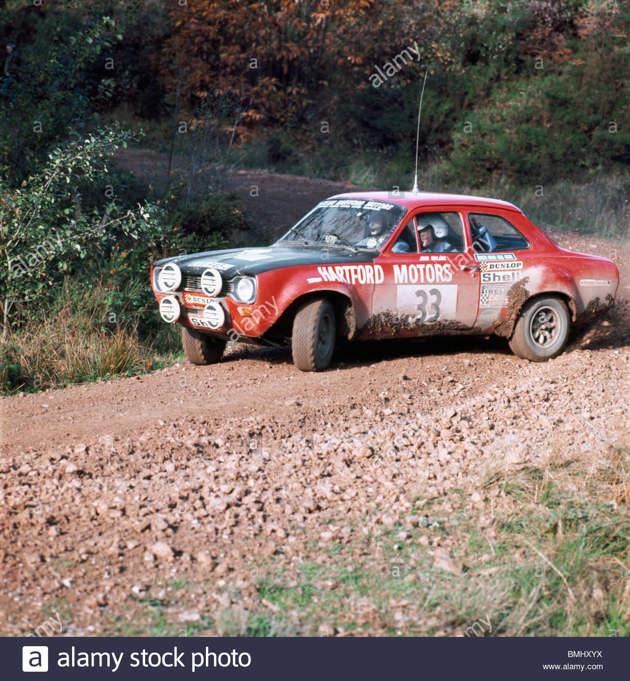 Ford Escort-Rallye-Auto; England, UK ? 1976 Stockbild