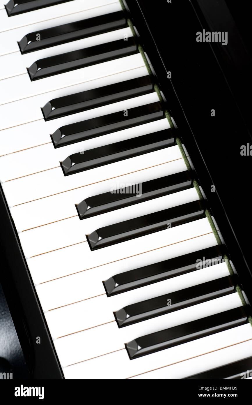 Klaviertaste Nahaufnahme Schuss Stockfoto