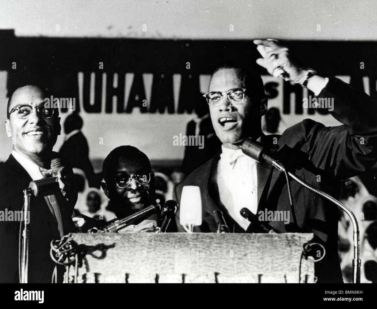 MALCOLM X (1925 – 1965), US-amerikanischer Minister und Menschenrechts-Aktivisten als Leiter der selbsternannten Stockfoto
