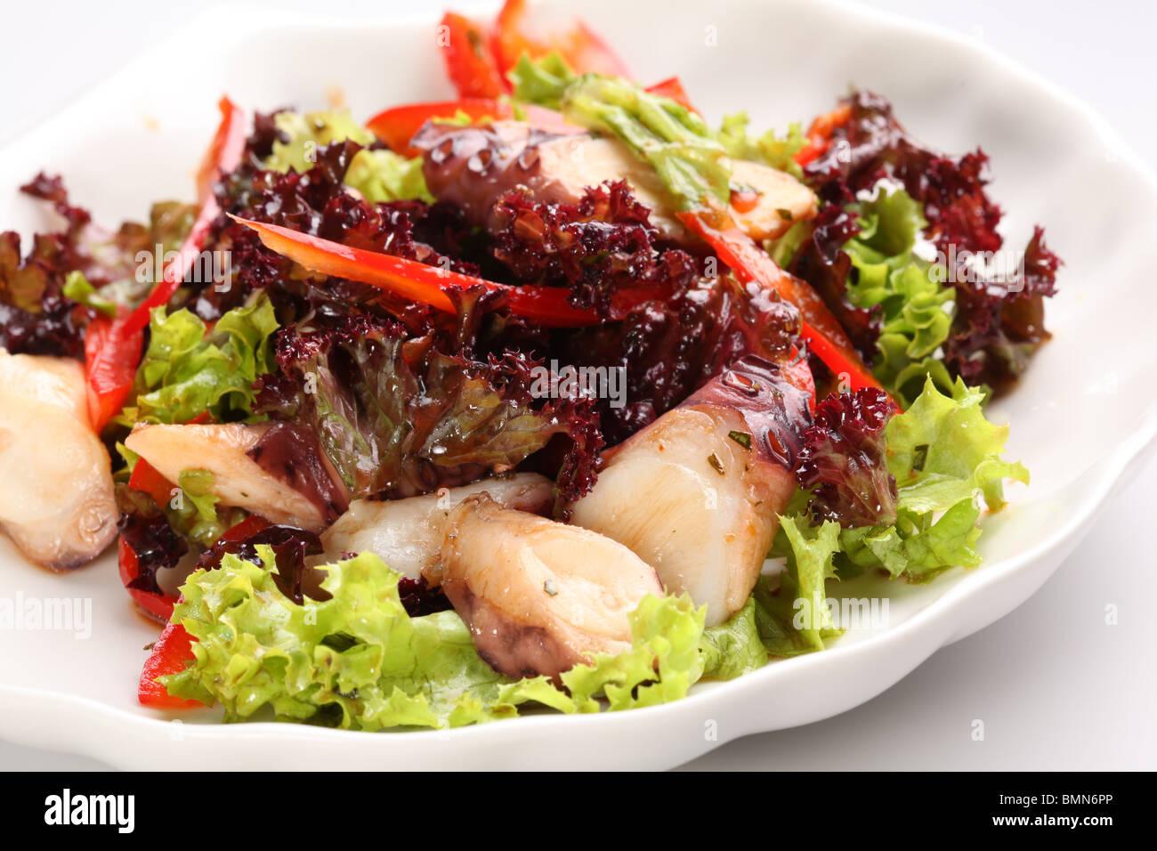 Oktopus-Salat Stockbild