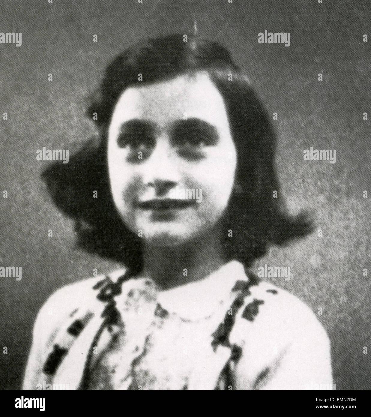 ANNE FRANK (1929-1945) jüdischen Opfer des Holocaust, dessen Tagebuch eines der weltweit ist, meistgelesene Bücher Stockfoto
