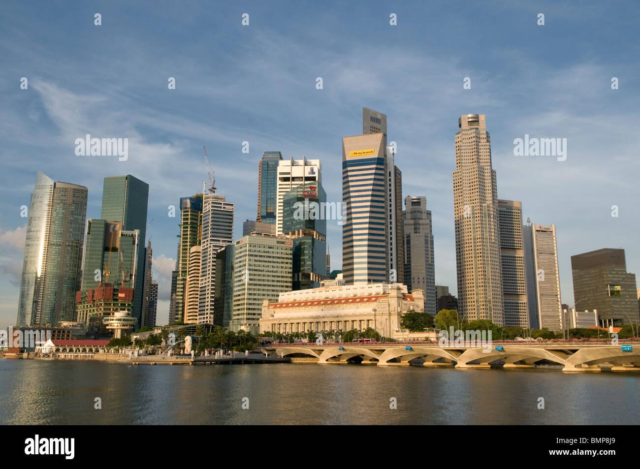 Central Business District-Singapur Stockbild