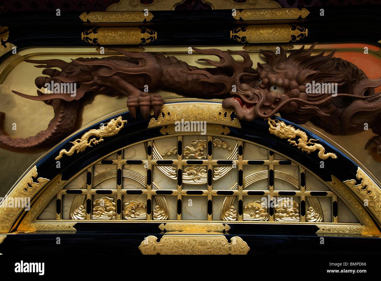 Detail der Yatai Schwimmer aus dem berühmten Sanno Matsuri Festival in Takayama, Japan Stockbild