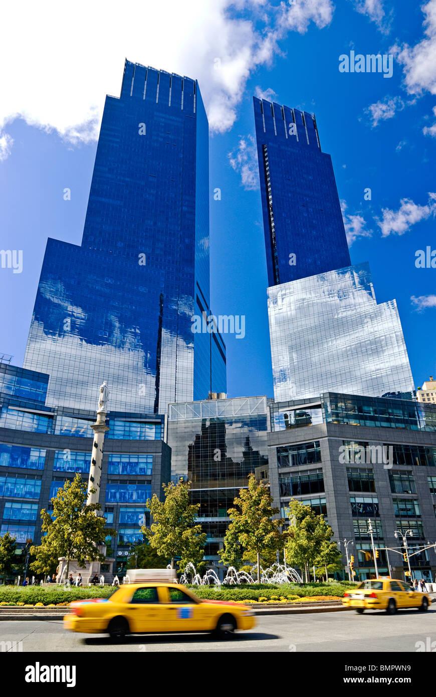 Time Warner Center, Columbus Circle, New York City. Stockbild