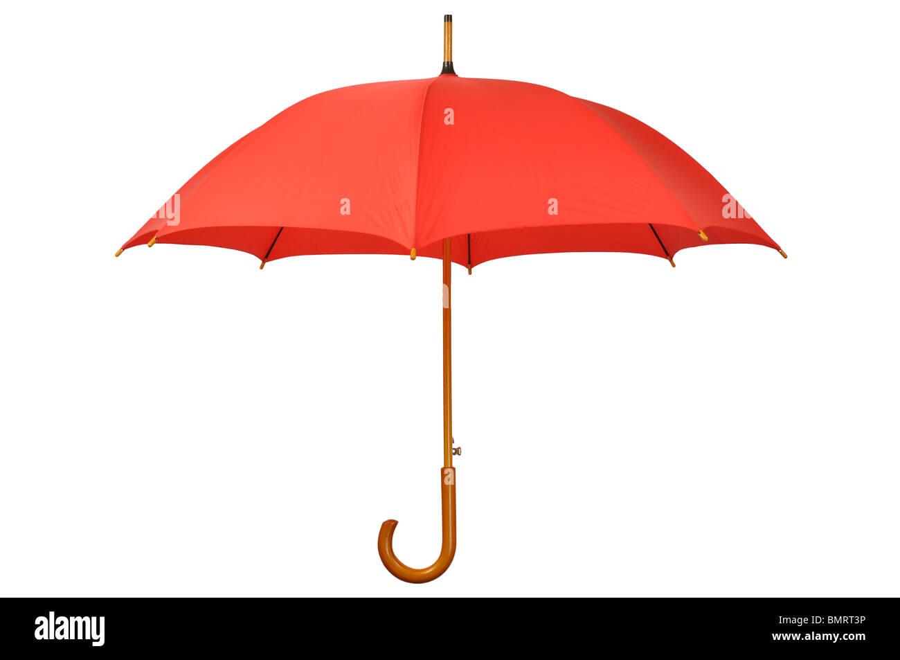 Roten Regenschirm Stockfoto