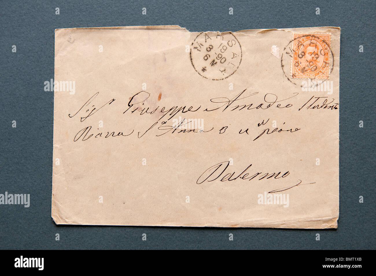 Brief Mit 1879 Italienischen Briefmarken Mit Efigy Viumberto Ich