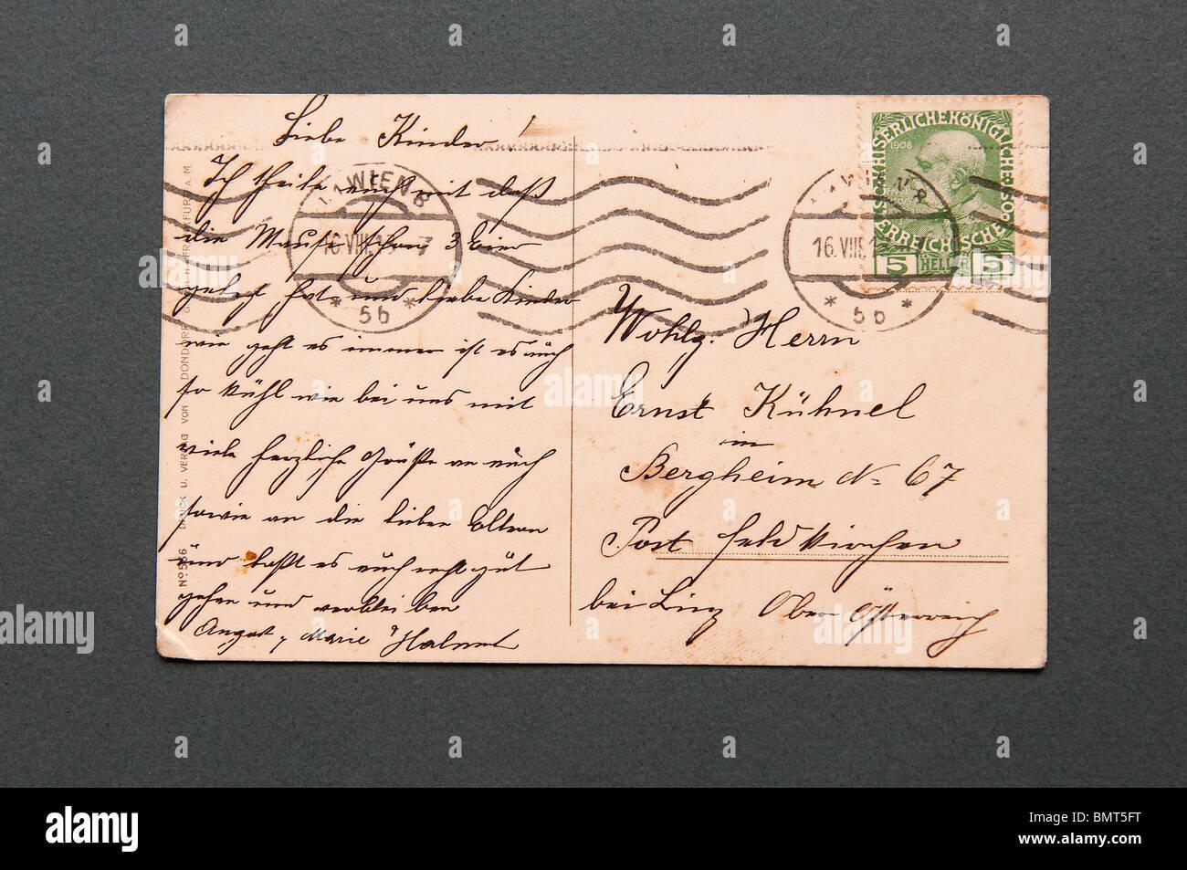 Postkarte Von österreich Nach Deutschland Porto Porto Dänemark