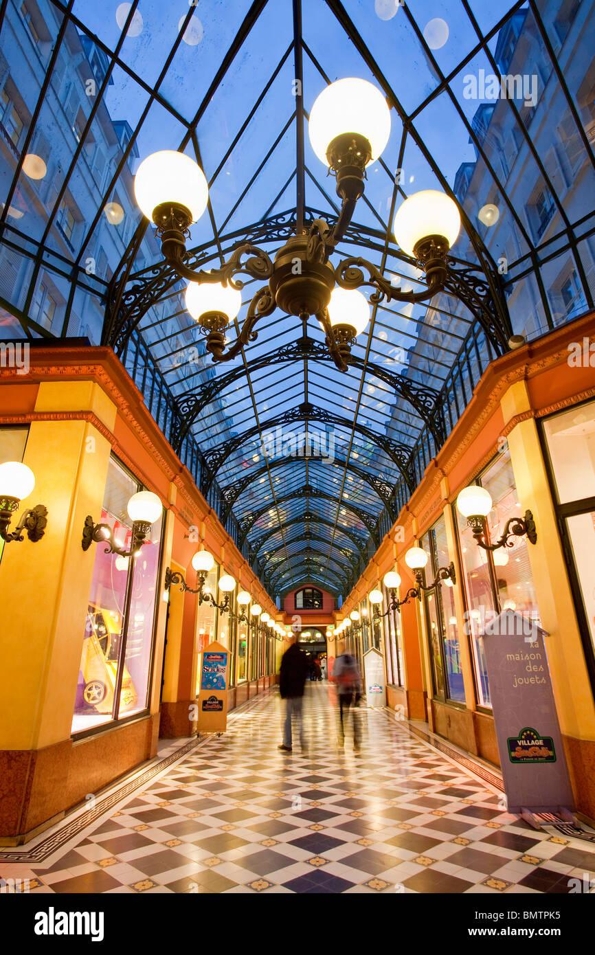 Paris, Grands Boulevards, Passage des Princes, erbaut im Jahre 1860 zwischen Boulevard des saufen und Rue de Richelieu Stockbild