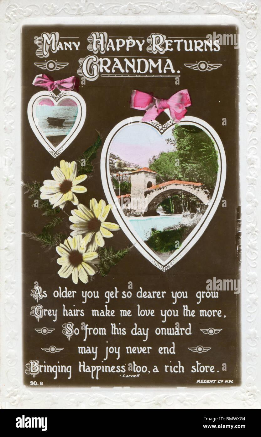 Geburtstagskarte Oma Stockfoto Bild 30073124 Alamy