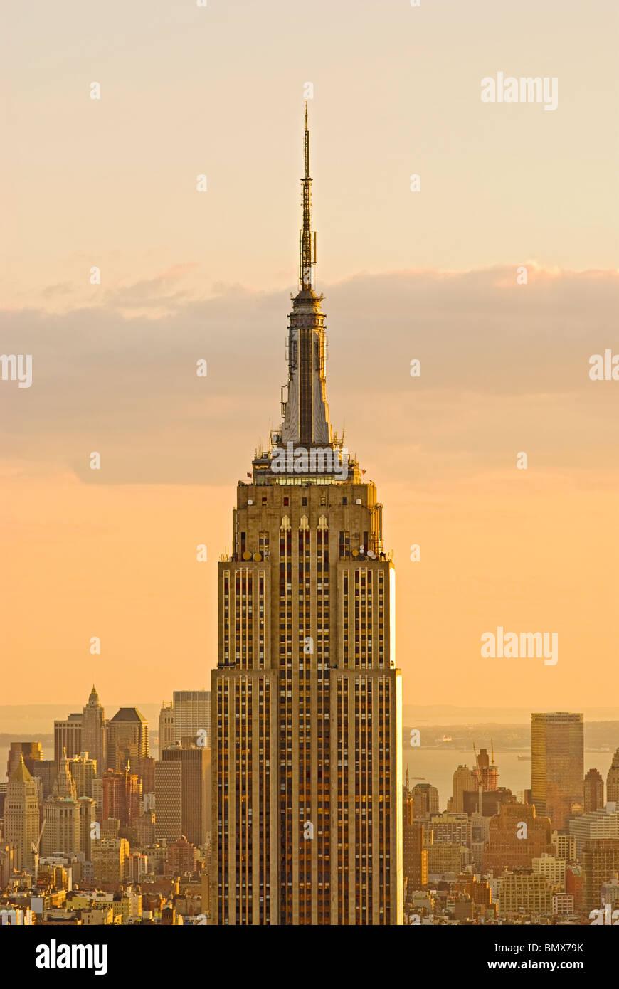 Empire State Building, New York City. Stockbild