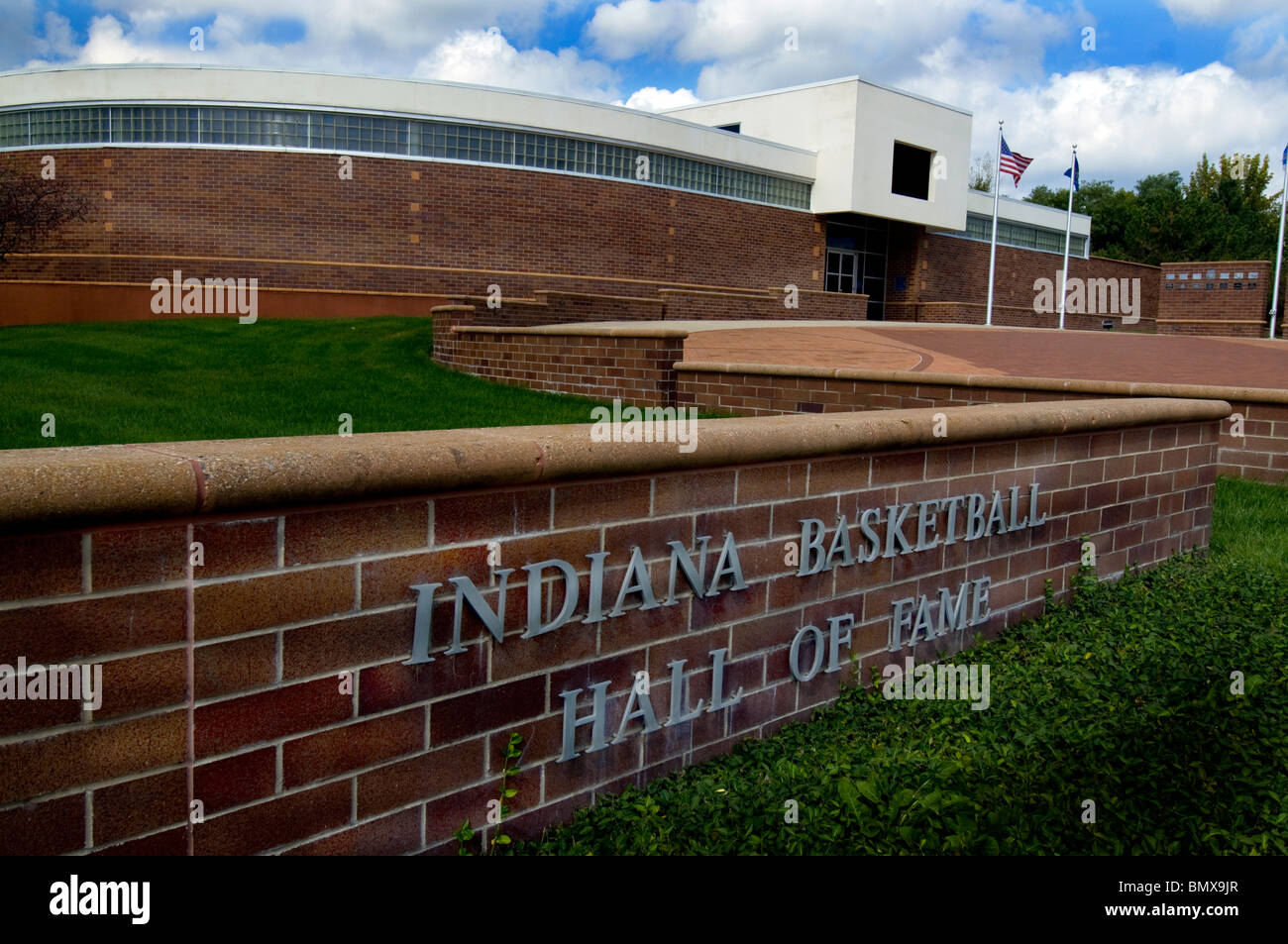 Indiana Basketball Hall of Fame in New Castle, Indiana Stockbild