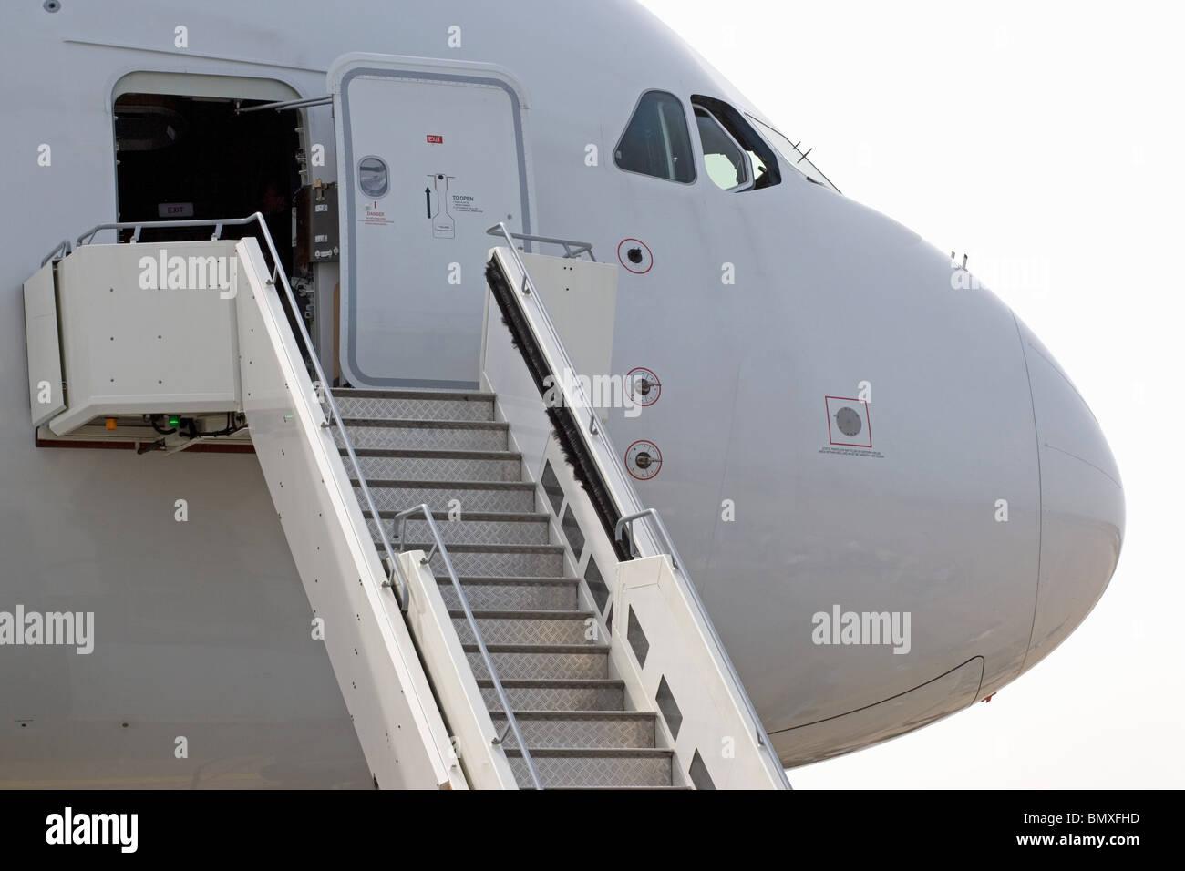 Passagierflugzeug Stockbild