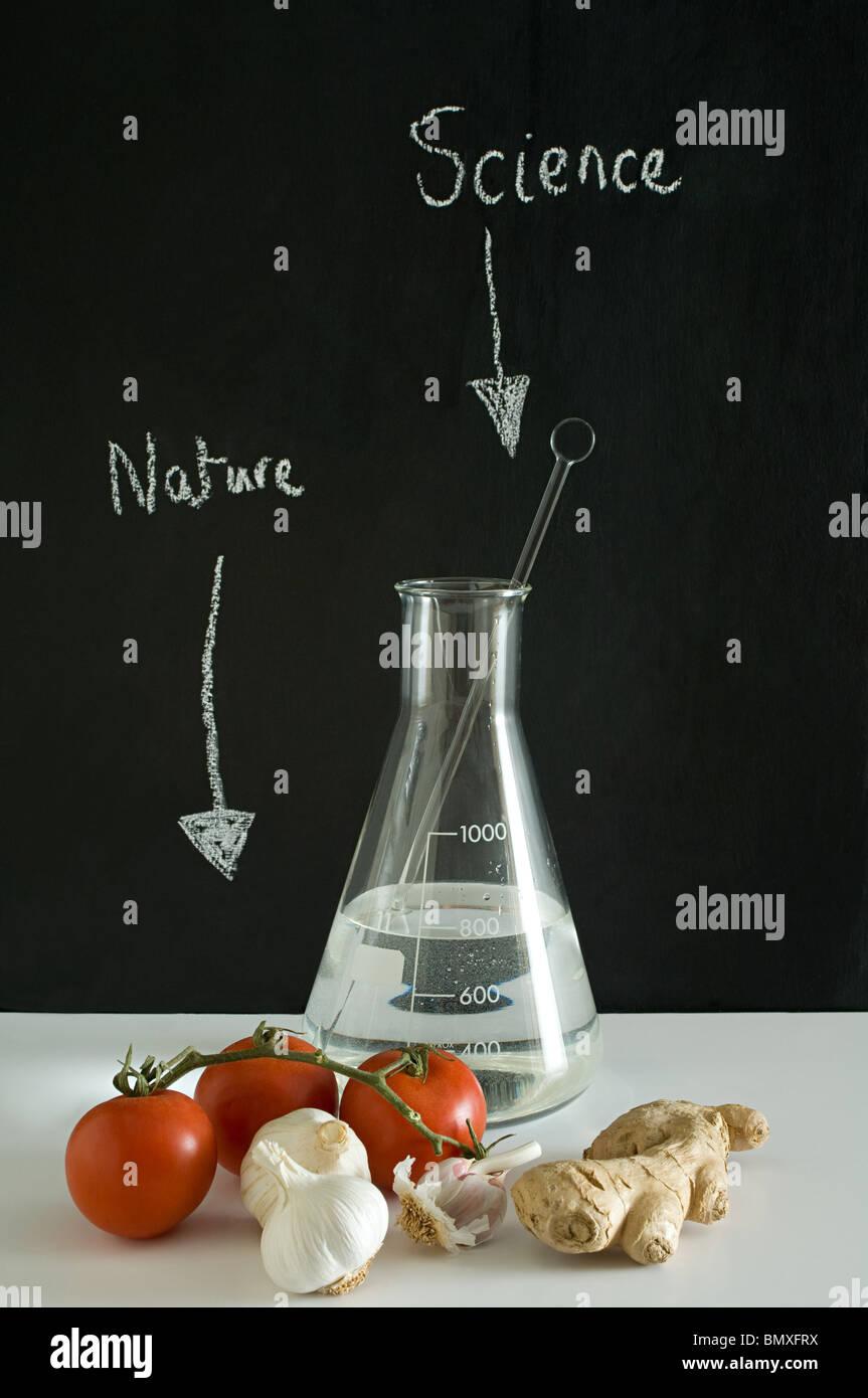Wissenschaft und Natur Stockbild