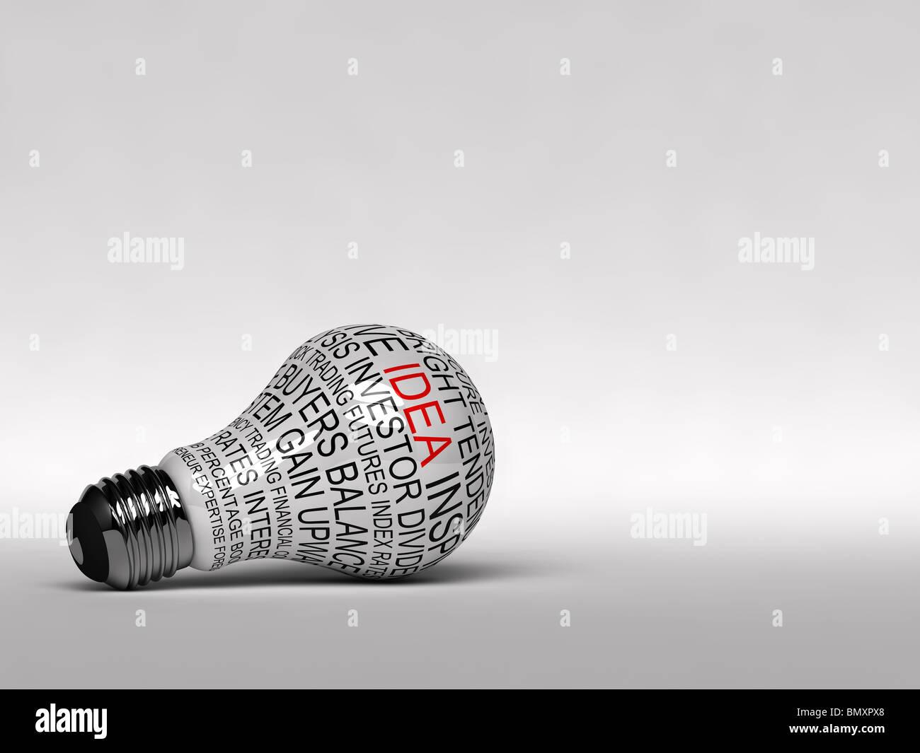 Inspirierende Glühbirne Stockbild