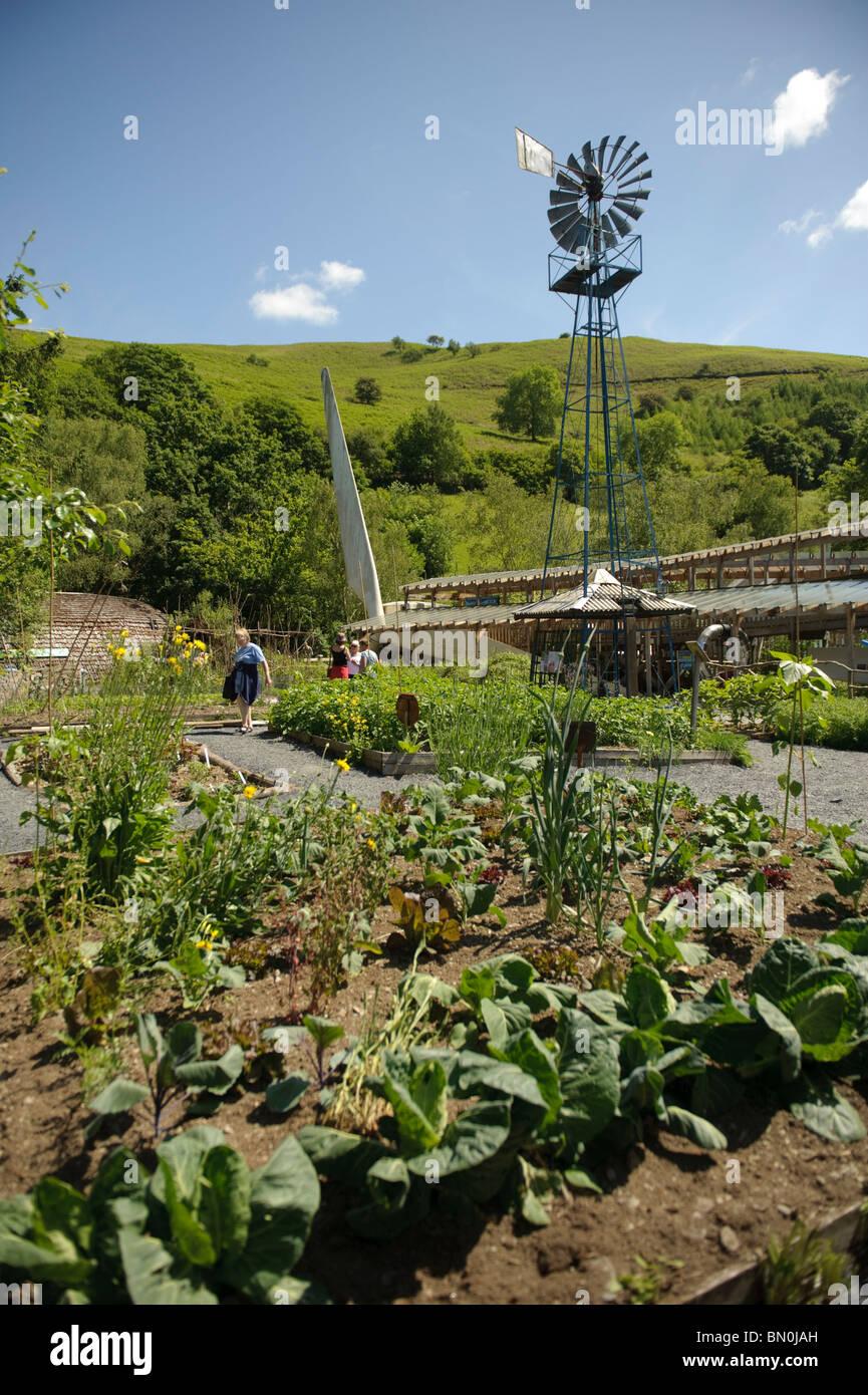 Das Zentrum für Alternative Technologie, Machynlleth, Powys Wales UK Stockbild