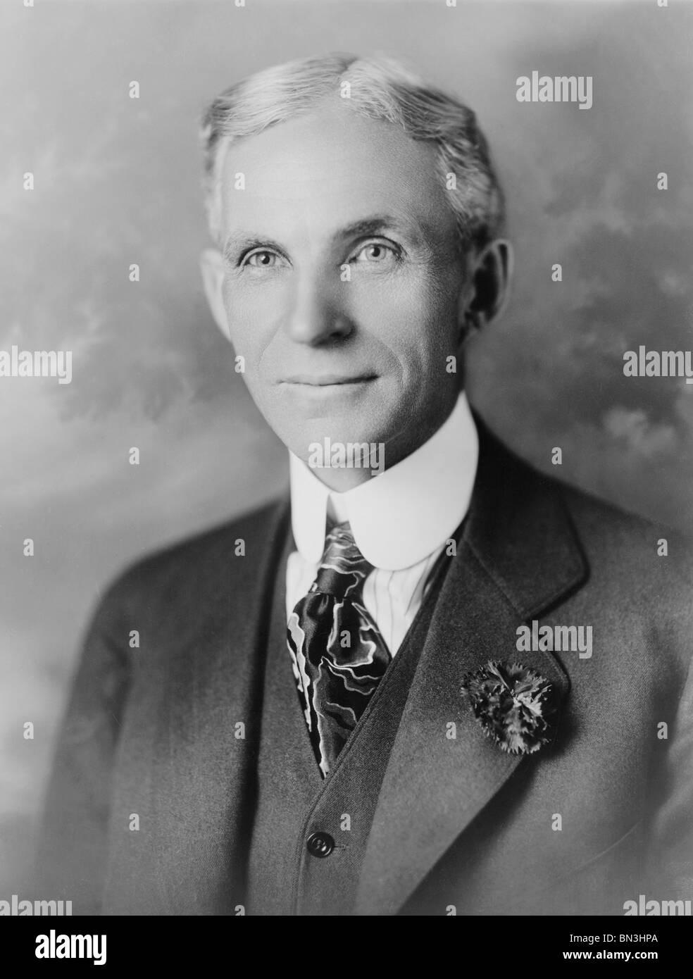 Portrait-Foto ca. 1910er Jahre amerikanische Geschäftsmann Henry Ford (1863-1947) - Gründer der Ford Motor Stockbild