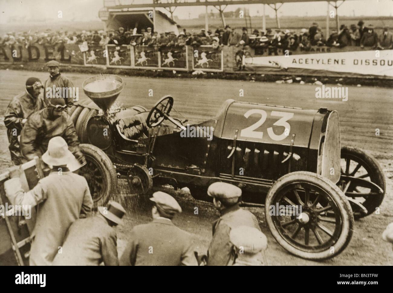 MOTOR RACING über 1910 - unbekannte Rasse Stockbild