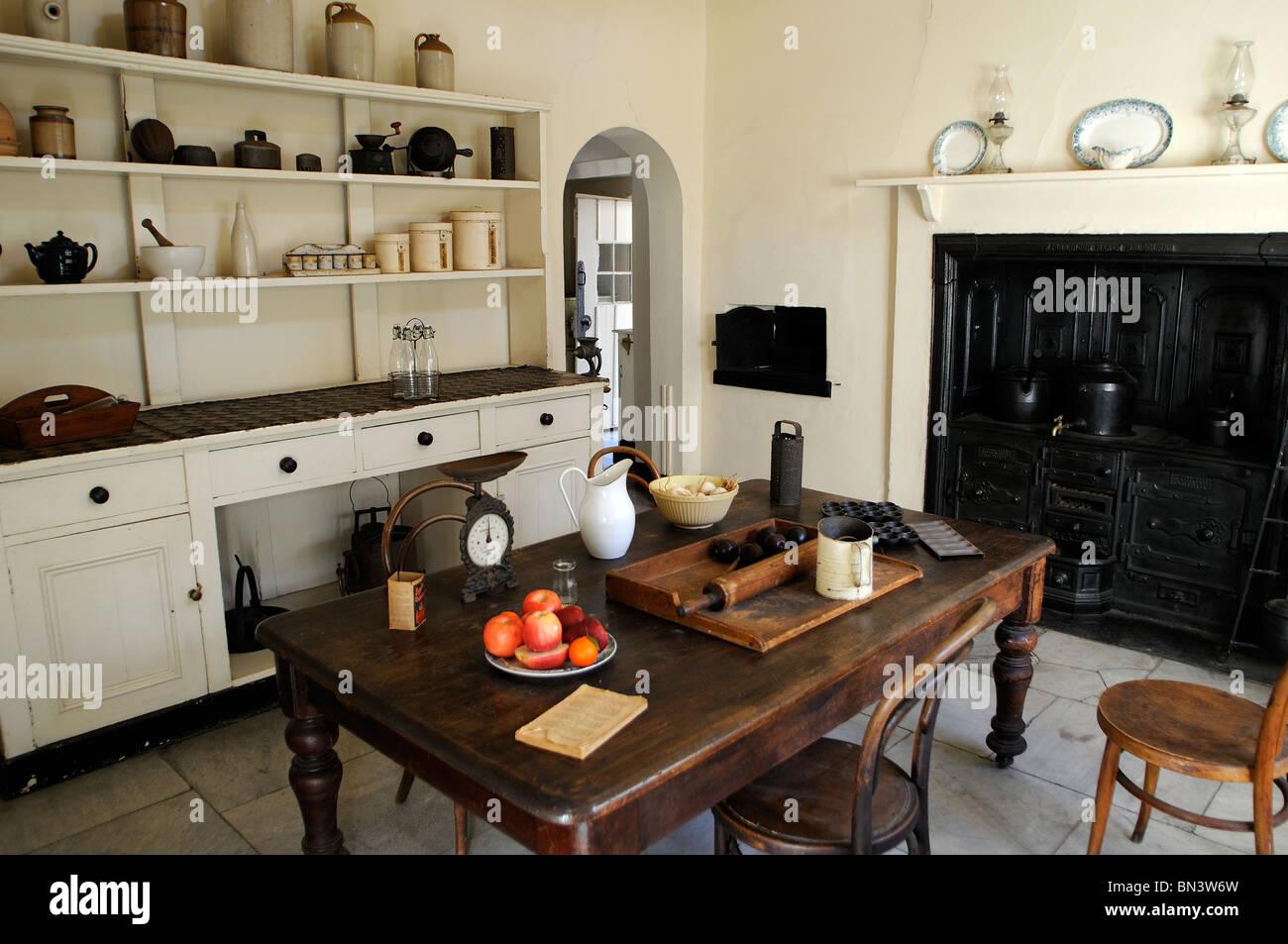 Australisch Familie Interieur : National trust eigentum küche interieur como historisches haus