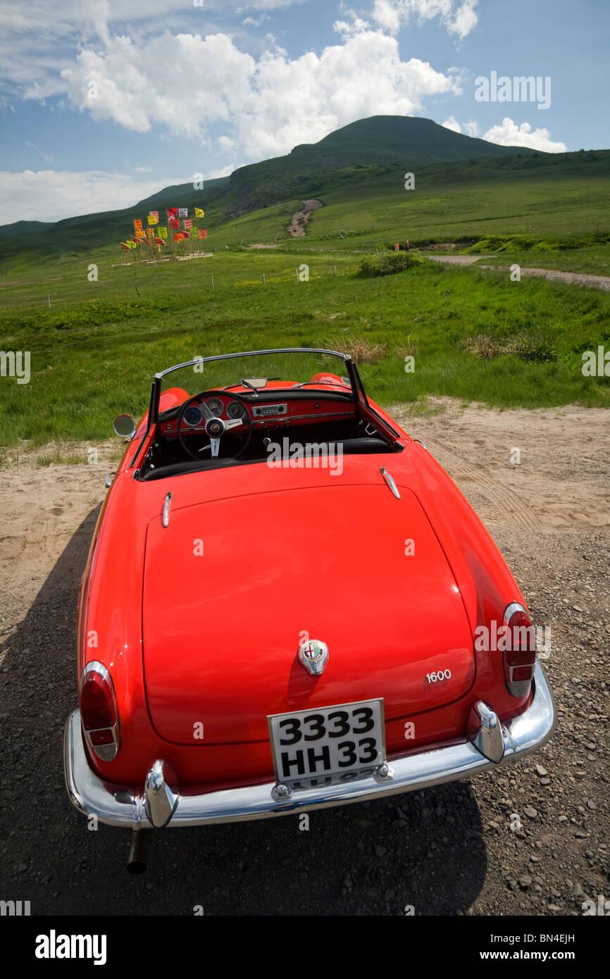Ein Alpha Romeo Giulietta Spider Auto, Modell 1600 (Frankreich). Alfa Romeo Giulietta Spider 1600 (Frankreich). Stockbild