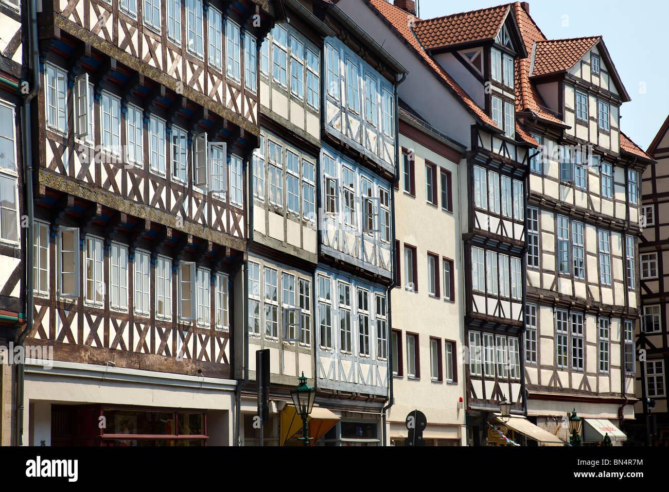 Historischer Stadtkern, Burgstraße, Hannover, Niedersachsen, Deutschland Stockbild