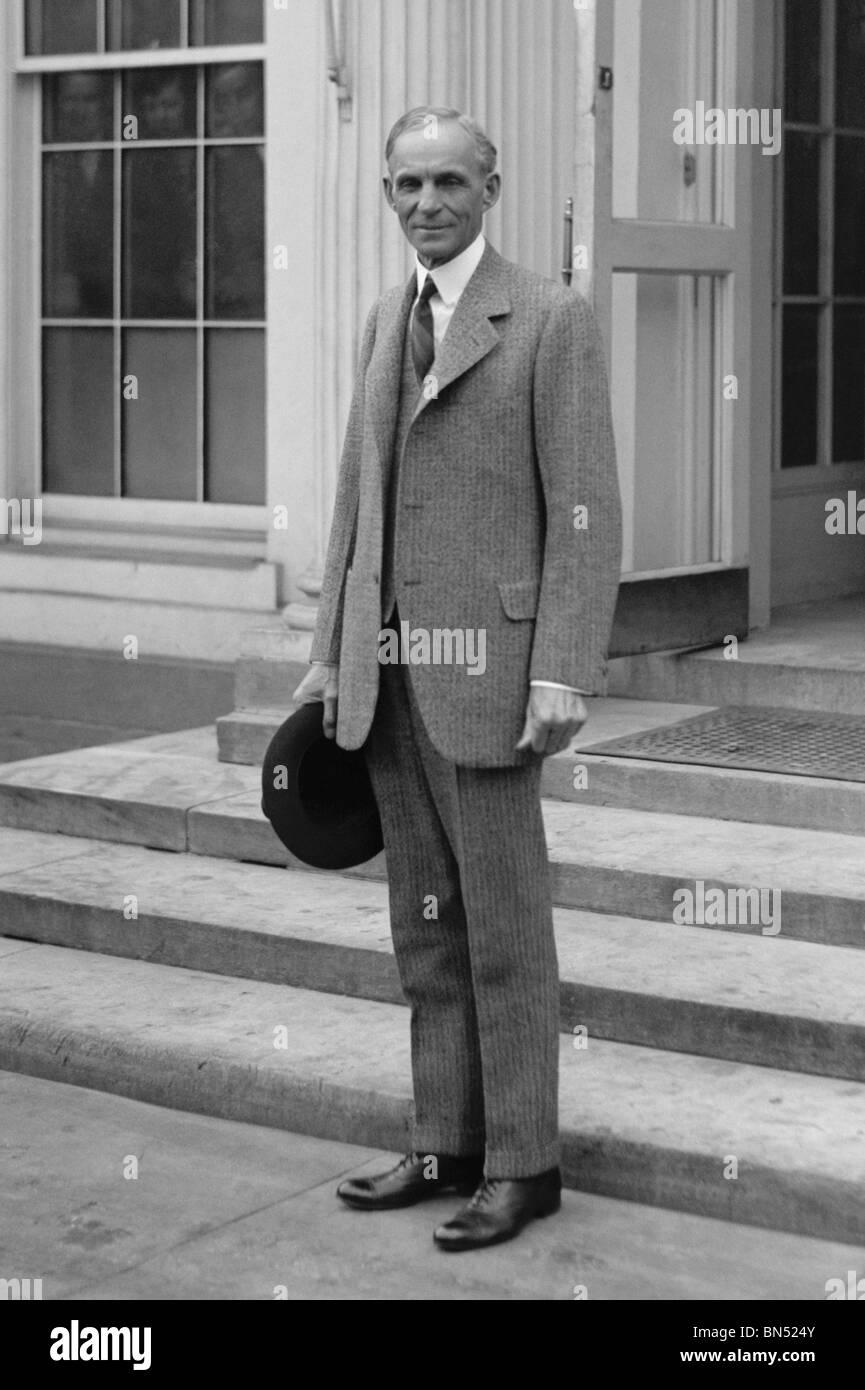 Jahrgang der 1920er Jahre Foto der amerikanische Geschäftsmann Henry Ford (1863-1947) - Gründer der Ford Stockbild