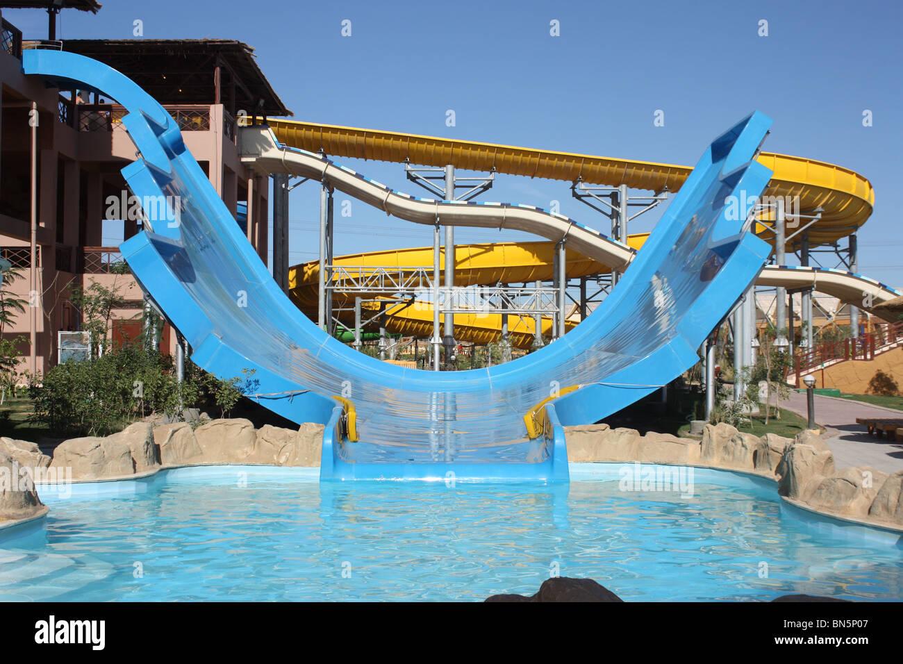 Jungle Aqua Park Hotel Hurghada Agypten Wasserrutsche Stockfoto