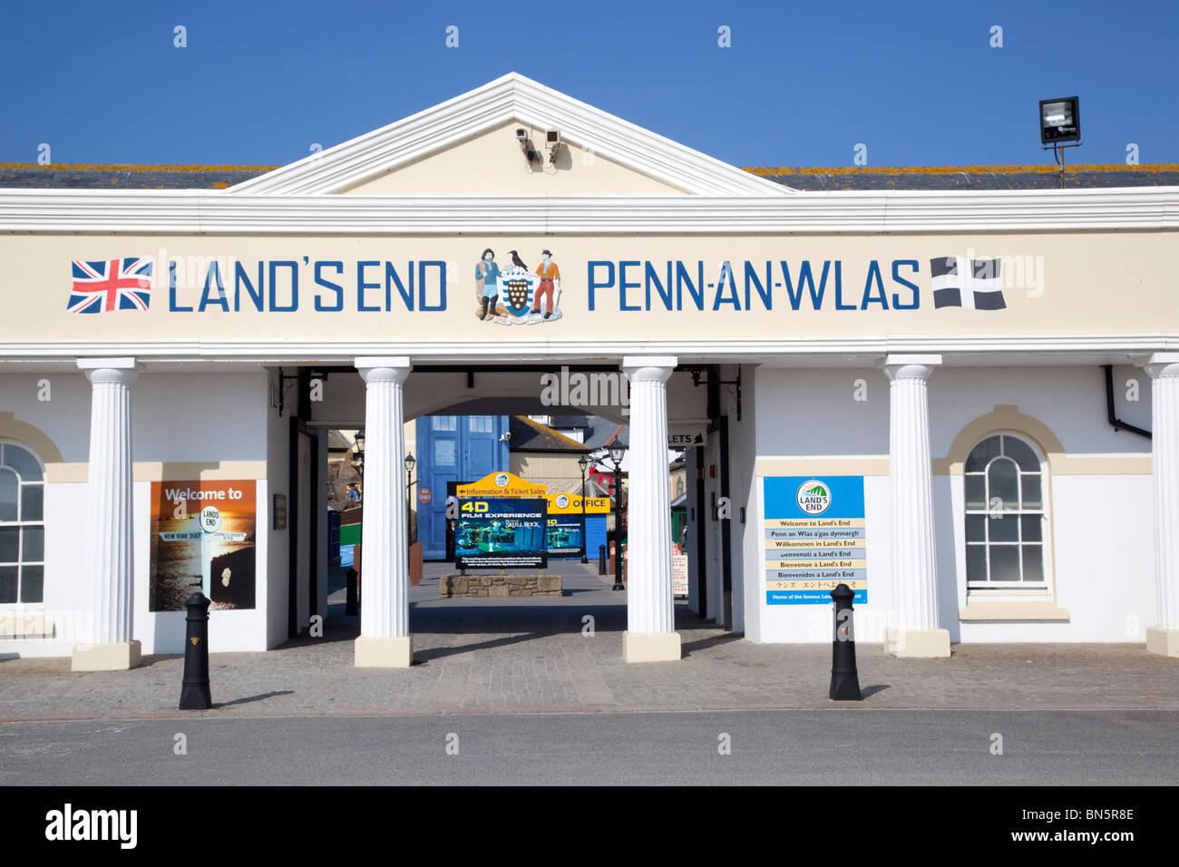 Lands End; Eingang zur Attraktion; Cornwall Stockbild