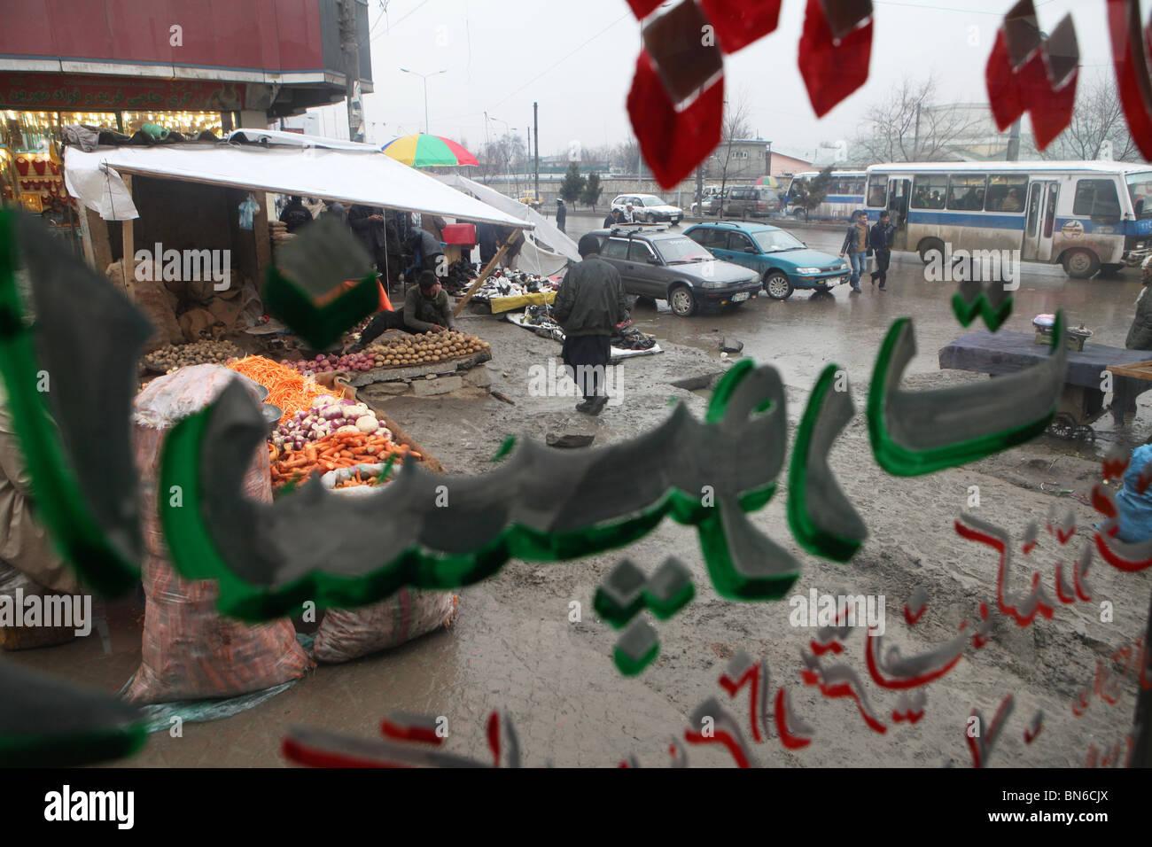 Afghanistan Afghanistan Afghanen kalt Display Kabul schreiben ...