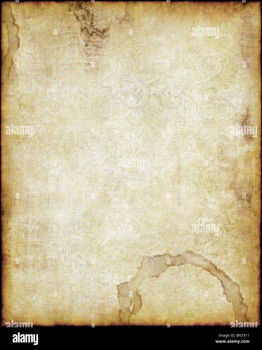alte abgenutzte Pergament Papier Textur Hintergrundbild Stockbild
