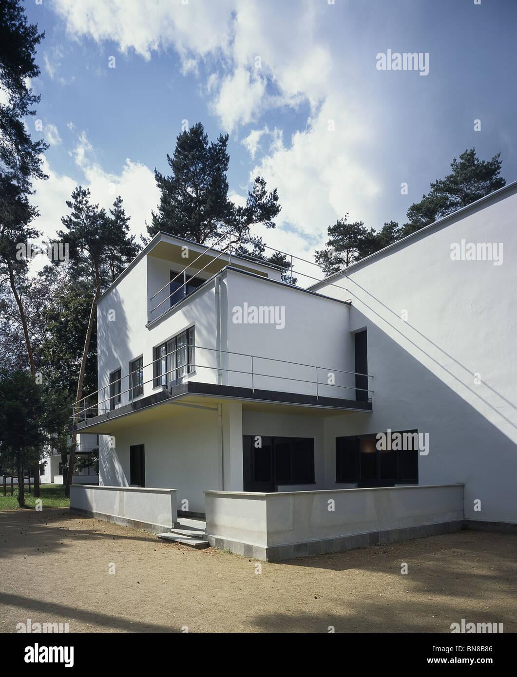 dessau deutschland meisterhaus oder das haus des meisters f r georg muche und oskar. Black Bedroom Furniture Sets. Home Design Ideas