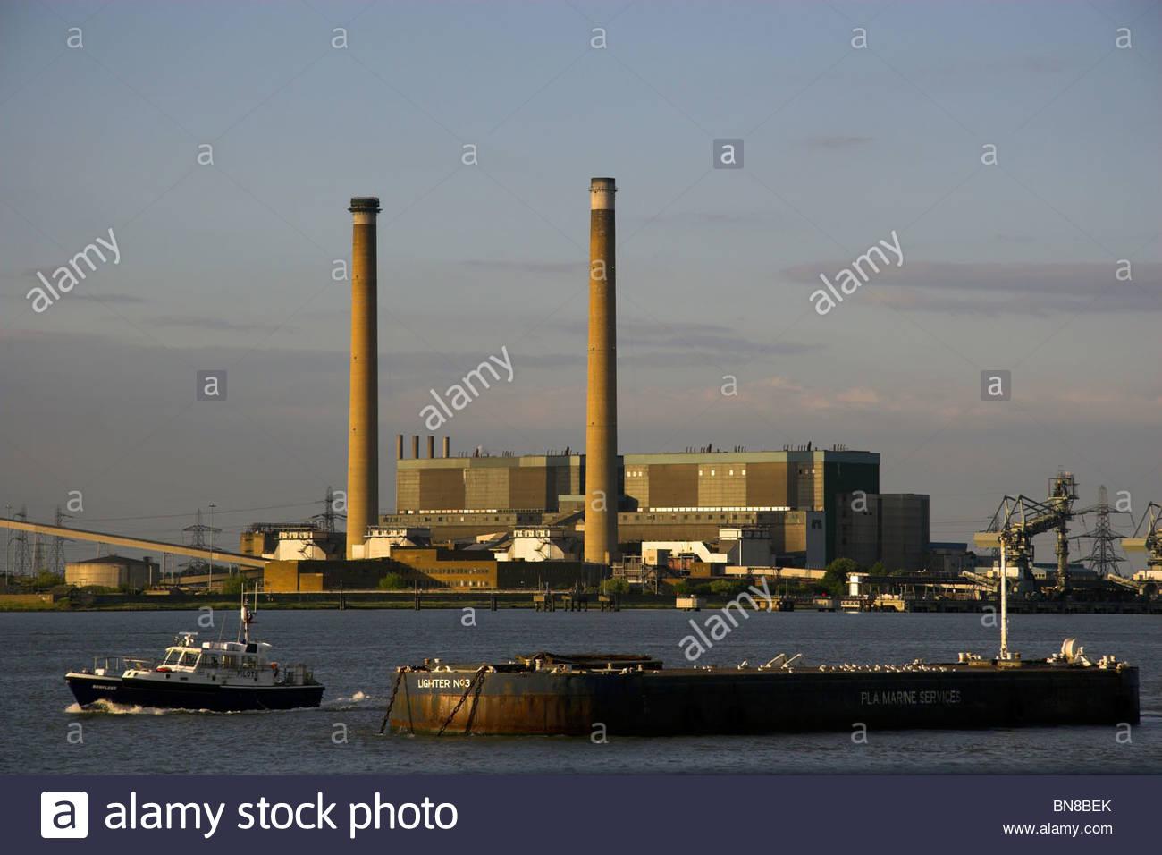 Tilbury Kraftwerk, Essex, England, UK. Stockbild