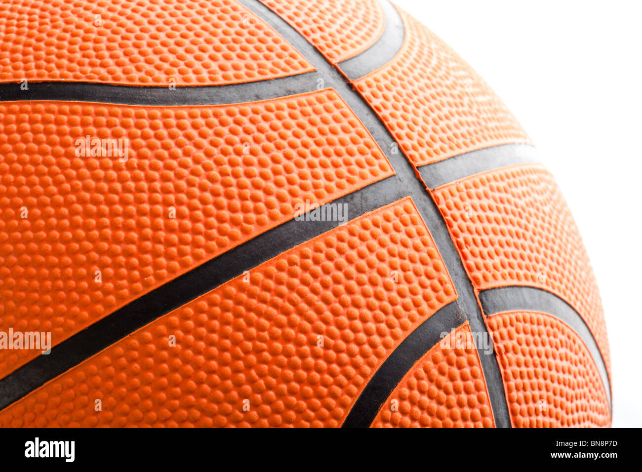 Orange Basketball Nahaufnahme Schuss Stockfoto