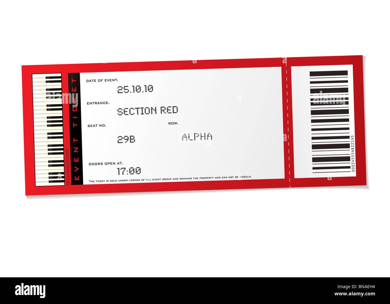 Atemberaubend Konzert Ticket Einladungen Vorlage Ideen - Beispiel ...