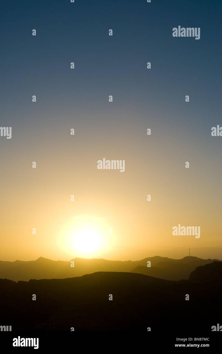 Sonnenuntergang in Kaikoura Neuseeland Stockbild
