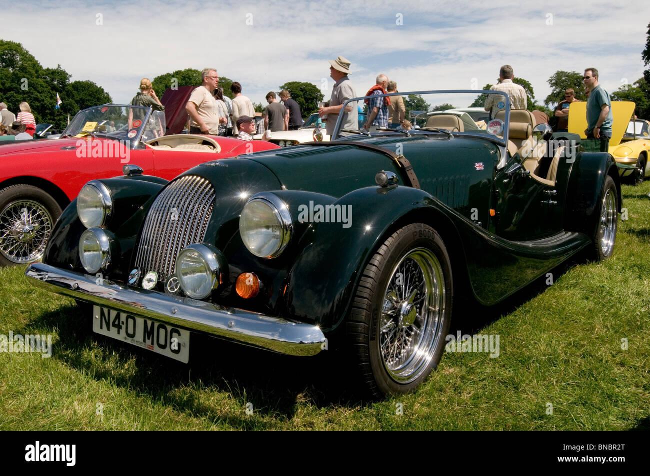 Oldtimer Sportwagen Sport Morgan zeigt Wettbewerb alte Vintage restaurierten Wiederherstellung Wiederherstellung Stockbild