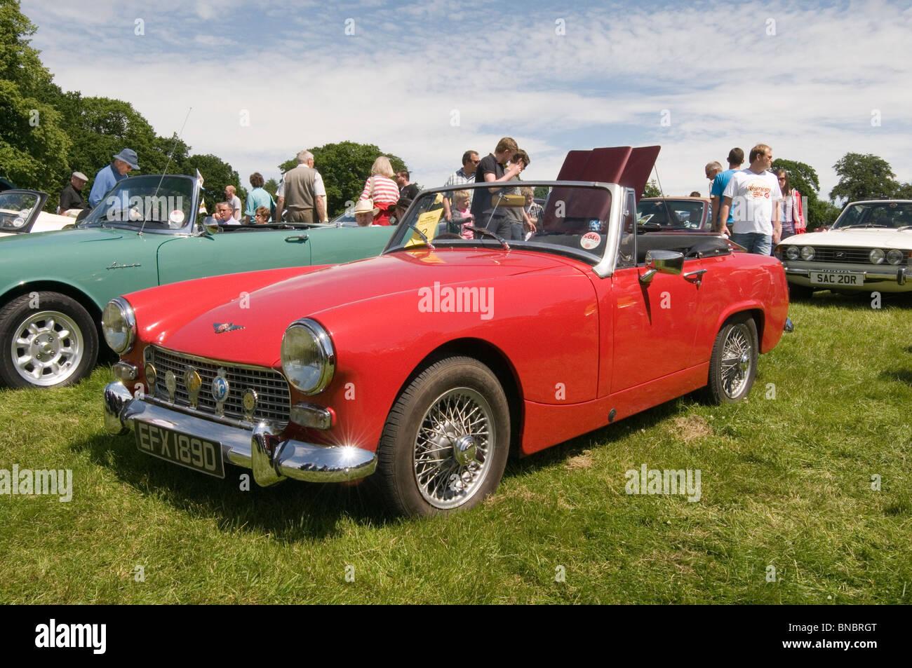 mg Midget Sportwagen Sport Sport Oldtimer Autos zeigen Shows zeigen Wettbewerb alten restaurierten Oldtimer Restaurierung Stockbild