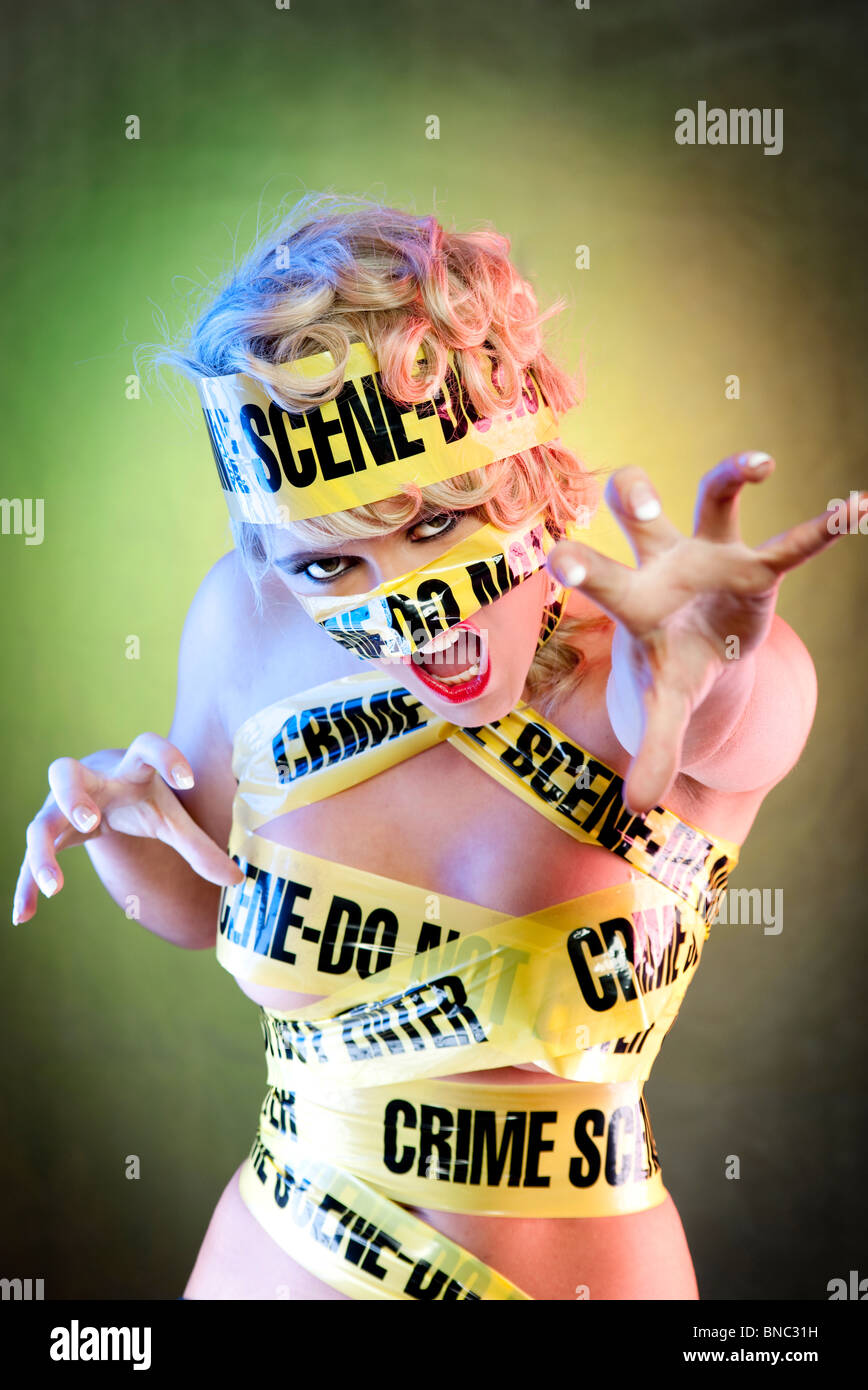 Lady Gaga Look Kriminalität Szene Band Stockbild