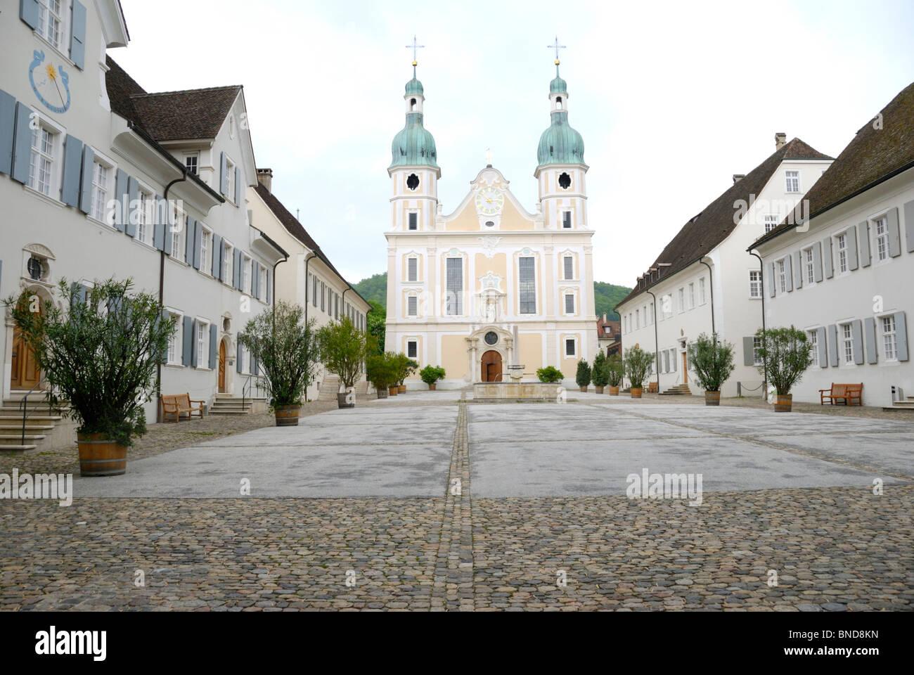 Dom und Domplatz, Arlesheim, Schweiz Stockbild