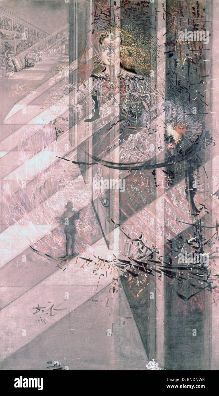Velazquez Malerei Infantin Margarita mit Licht und Schatten seiner eigenen Herrlichkeit von Salvador Dali 1958 1904 Stockbild
