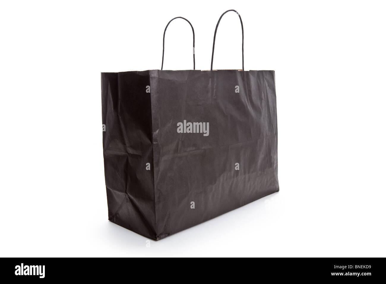 schwarzes papier einkaufstasche mit wei em hintergrund stockfoto bild 30440741 alamy. Black Bedroom Furniture Sets. Home Design Ideas