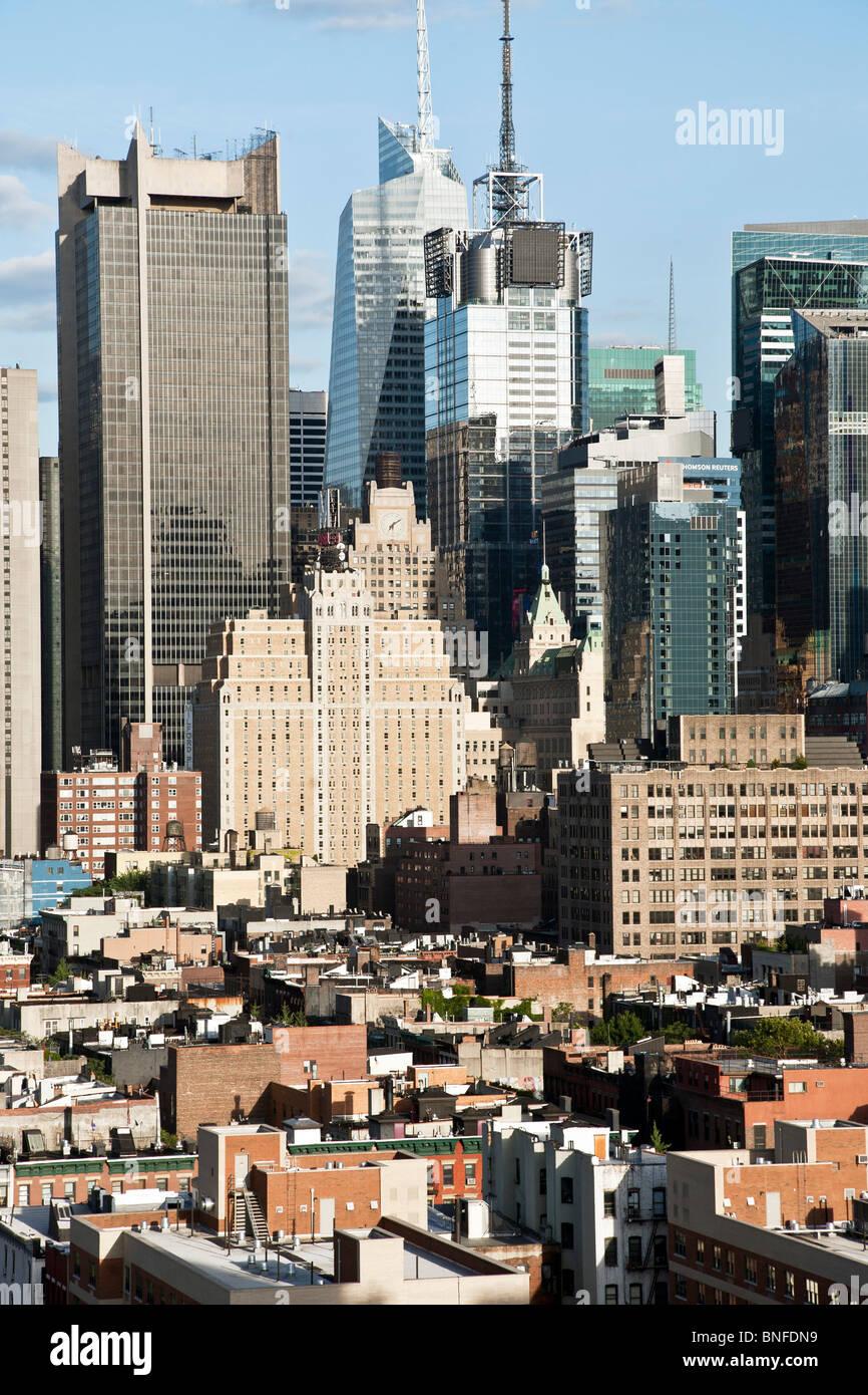 Cluster Glas Gebäude & Hotel Bürotürme in sanierten Times Square ...