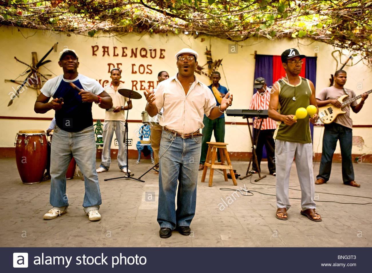 Club-Palenque de Los Congos Reales, Trinidad, Kuba Stockbild