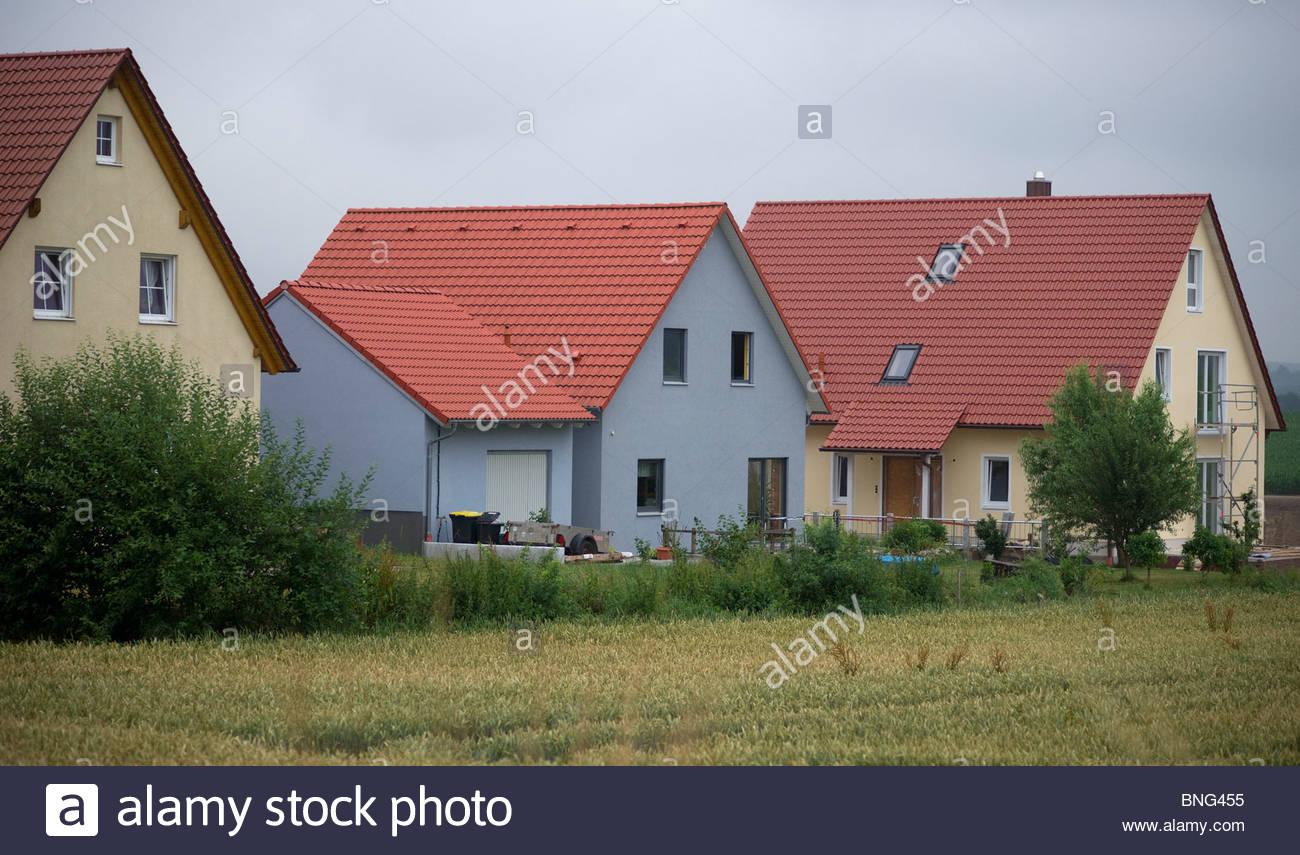 typisch deutsche h user in einem dorf bayern deutschland. Black Bedroom Furniture Sets. Home Design Ideas