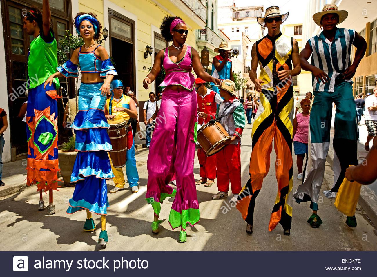 Straßenkünstler, Havanna, Kuba Stockbild