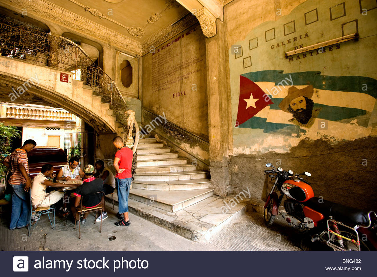 La Guarida, Havanna, Kuba Stockbild