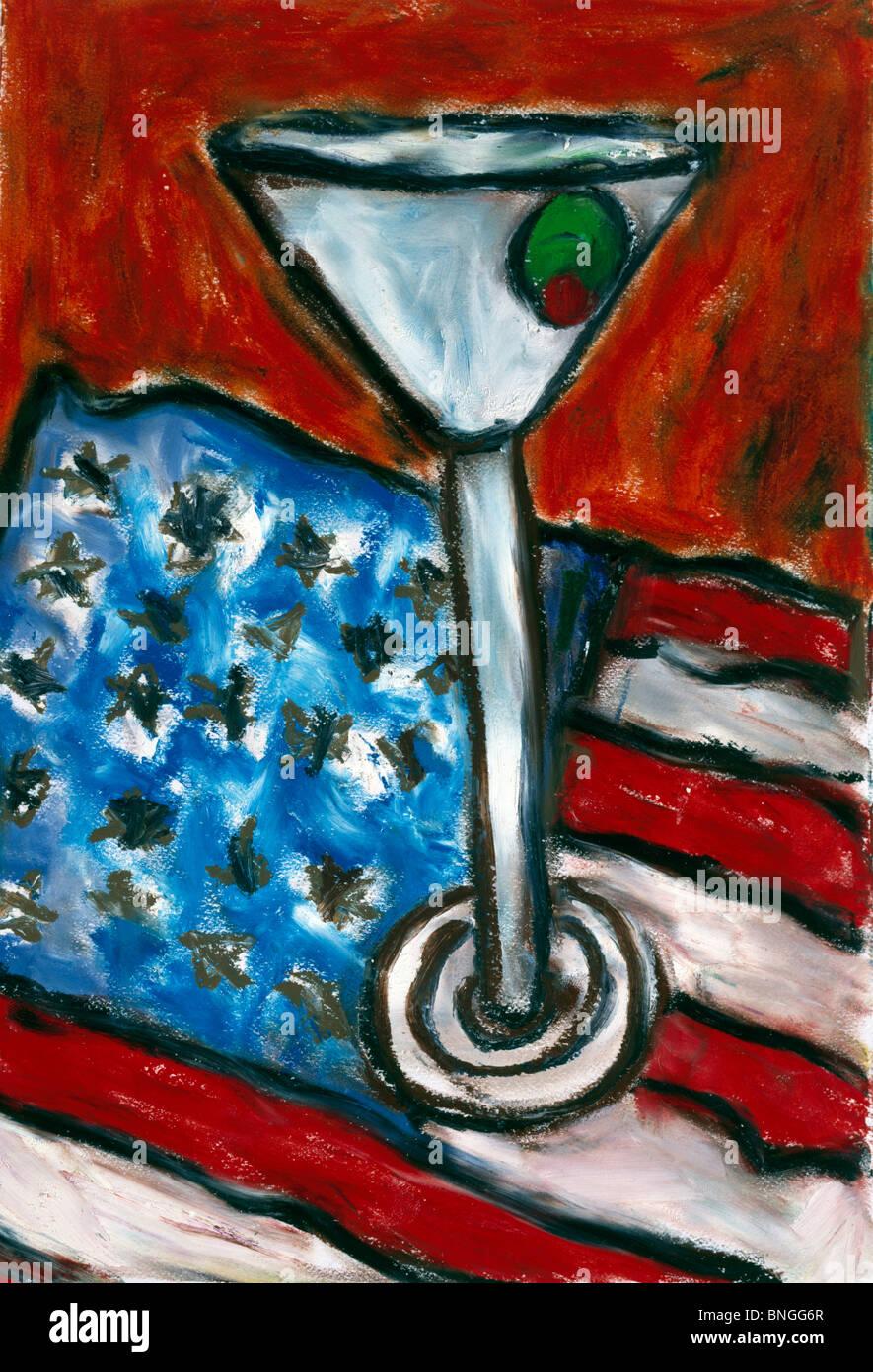Soiree amerikanisch, von Ashton Hinrichs, ca. 1998 Stockbild